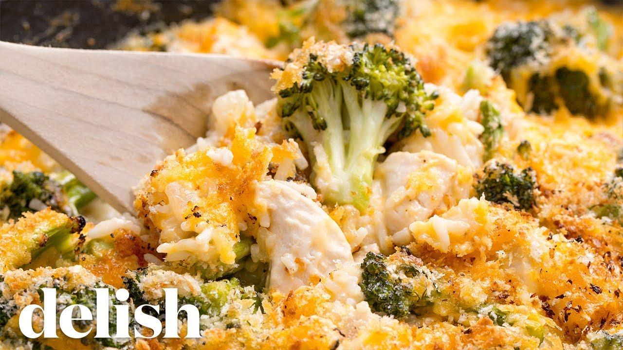 Cheesy Chicken Broccoli Bake  Delish - Youtube-6776