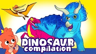 Learn Dinosaurs for Kids | Cute and Scary Dinosaur Cartoons | t-rex Triceratops | Club Baboo