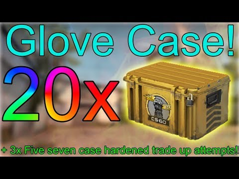 CS:GO Case Opening! 20x Glove Case! + 3x Five Seven Case Hardened trade up attempts!