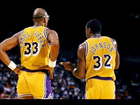 Image result for Picture of Kareem and Magic