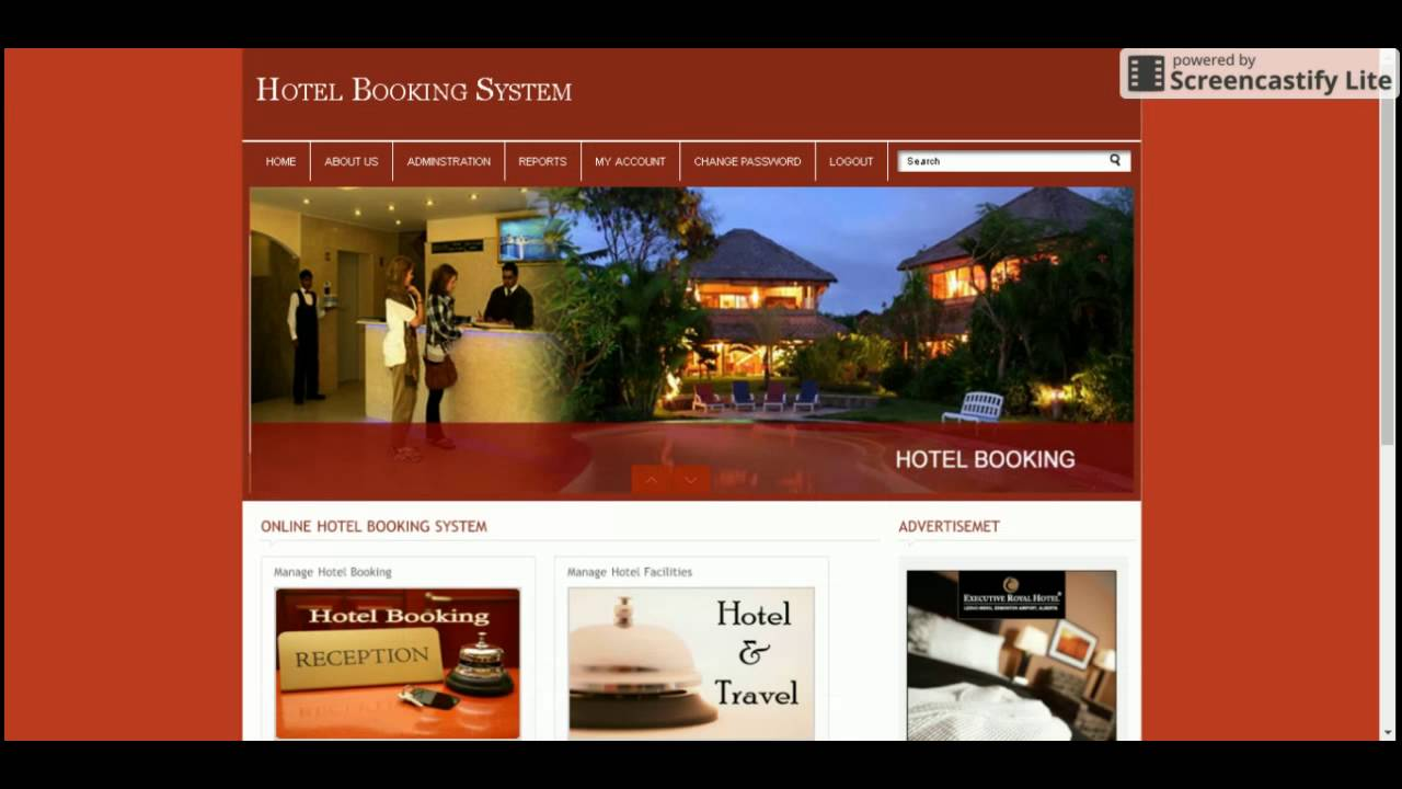 Php and mysql project in hotel booking system youtube for Design hotel reservation system
