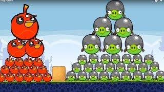 Huge Angry Birds - SHOOTING GAME BIG BIRDS VS 100 HUGE PIGS! Angry ...