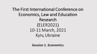 ELER2021. Session 1. Economics