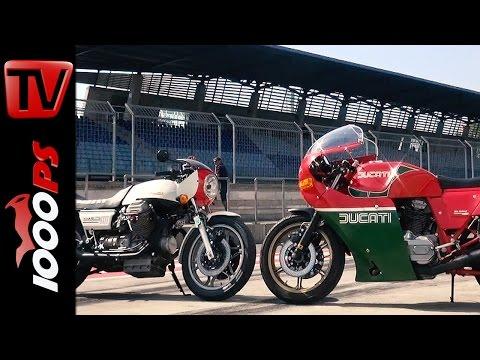 Ducati Mike Hailwood Replica vs. Moto Guzzi 850 LeMans | Onboard | Red Bull Ring
