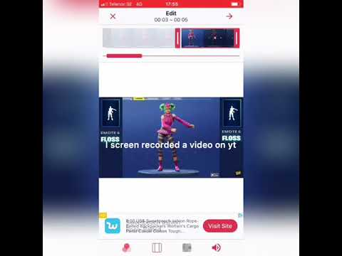 How To Get A Fortnite Dance On Live Wallpapers Ios Youtube
