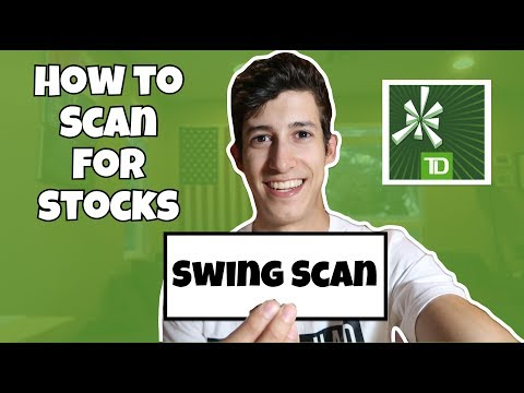 How To Scan For Swing Stocks 101   TD Ameritrade ThinkorSwim