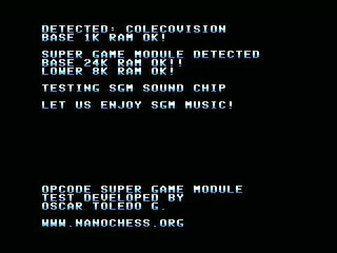 SGM test - openMSX ColecoVision with SGM emulation demo