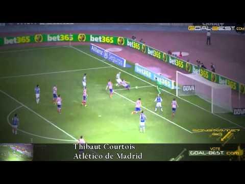 Big Save ! Thibaut Courtois Atletico Madrid 2014 primera division