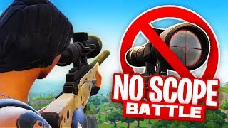 1 VS 1 NO SCOPE BATTLE! (fortnite Battle Royale)