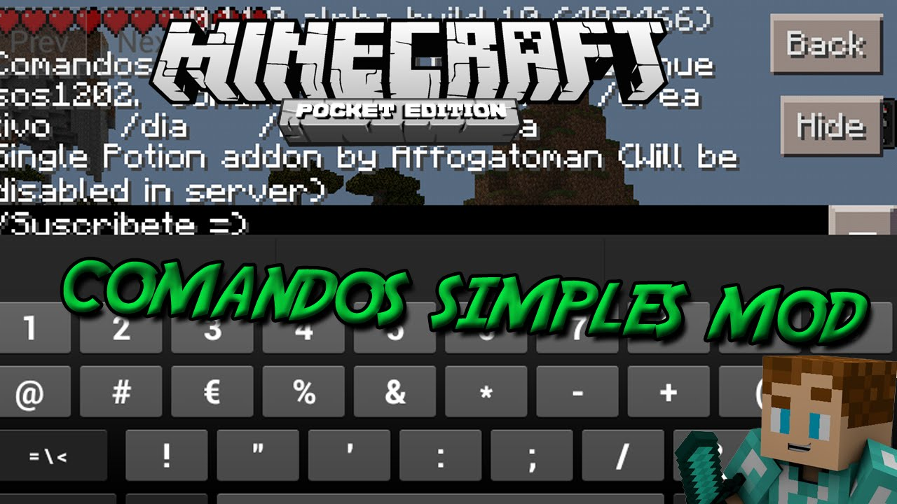 how to use commands in minecraft pe 0.11.0