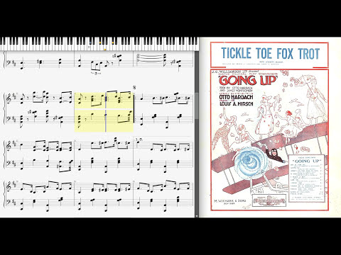 The Tickle Toe by Louis Hirsch (1918, Ragtime piano)