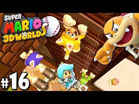 Super Mario 3D World: 2P Co-Op! - Cloud Climb Cats PART 16 (Nintendo Wii U HD Gameplay Walkthrough)