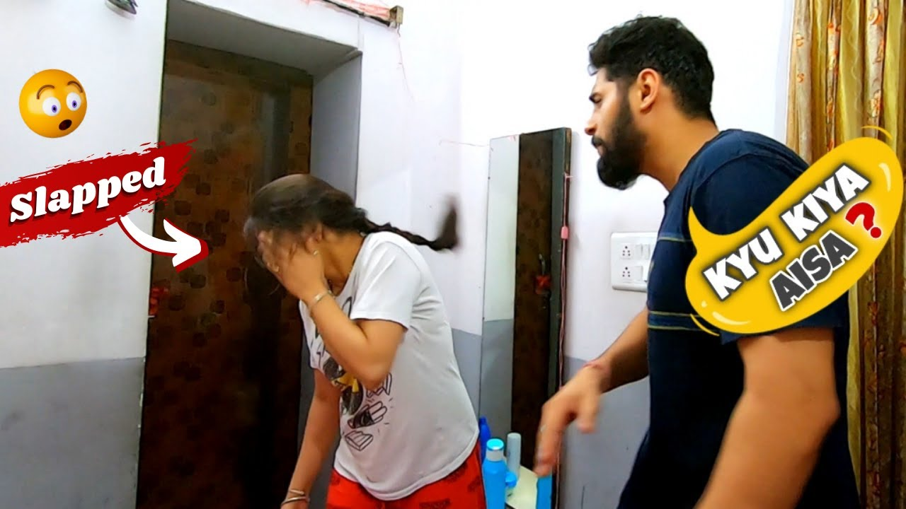 SLAPPING PRANK ON WIFE | REACTION GONE SUPPER FUNNY 🤣🤣
