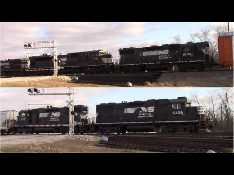NS Running Shortline Style: Engines on Front and Rear of the Train with a High Hood