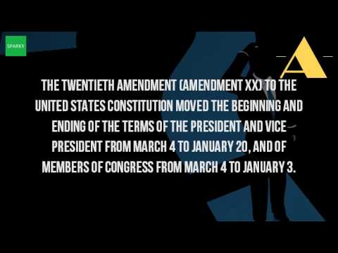 What Is The Meaning Of The 20 Amendment?