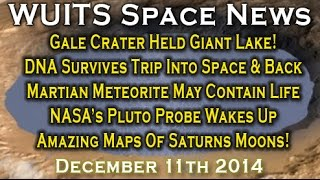 Gale Crater Held Lake, Giant Dunes On Titan, Martian Meteorite Proves Life & More - WUITS Space News