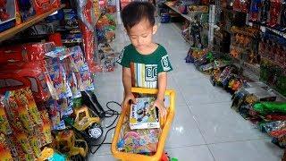 Beli Mainan - Unboxing Mainan Anak Laki laki Mobil Truk Ekskavator Buldozer Beko - Anak Lucu Bermain