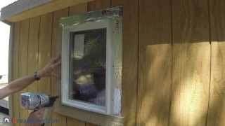 How To Build A Lean To Shed - Part 9 - Window Install