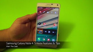 Samsung Galaxy Note 4: S-Note Features & Tips