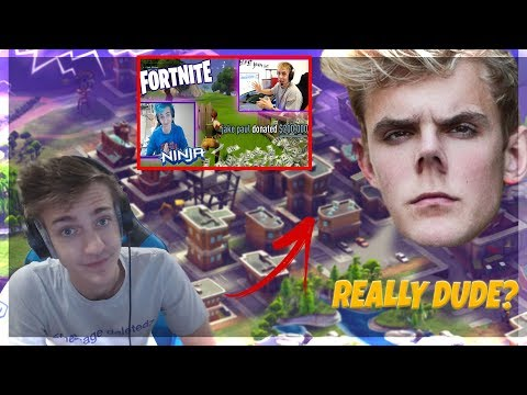 NINJA PISSED AT JAKE PAUL FOR USING HIM AS CLICKBAIT LIVE!!! (FORNITE BATTLE ROYALE)