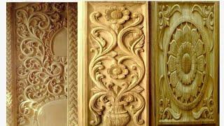Decorative wood main door for modern homes