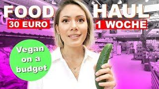 Vegan Challenge 30€/ Woche Lebensmittel - FOOD HAUL | yummypilgrim