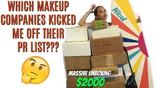 MASSIVE UNBOXING $2000 WORTH OF MAKEUP | The truth about PR lists