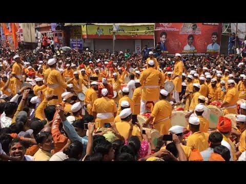 HD : Taal Dhol Tasha Pathak 2018 | Tambadi Jogeshwari | Ganesh Visarjan