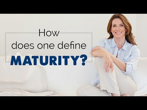 Maturity definition psychology