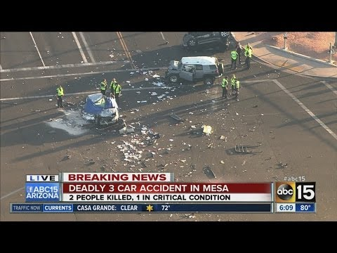 Deadly car crash in Mesa
