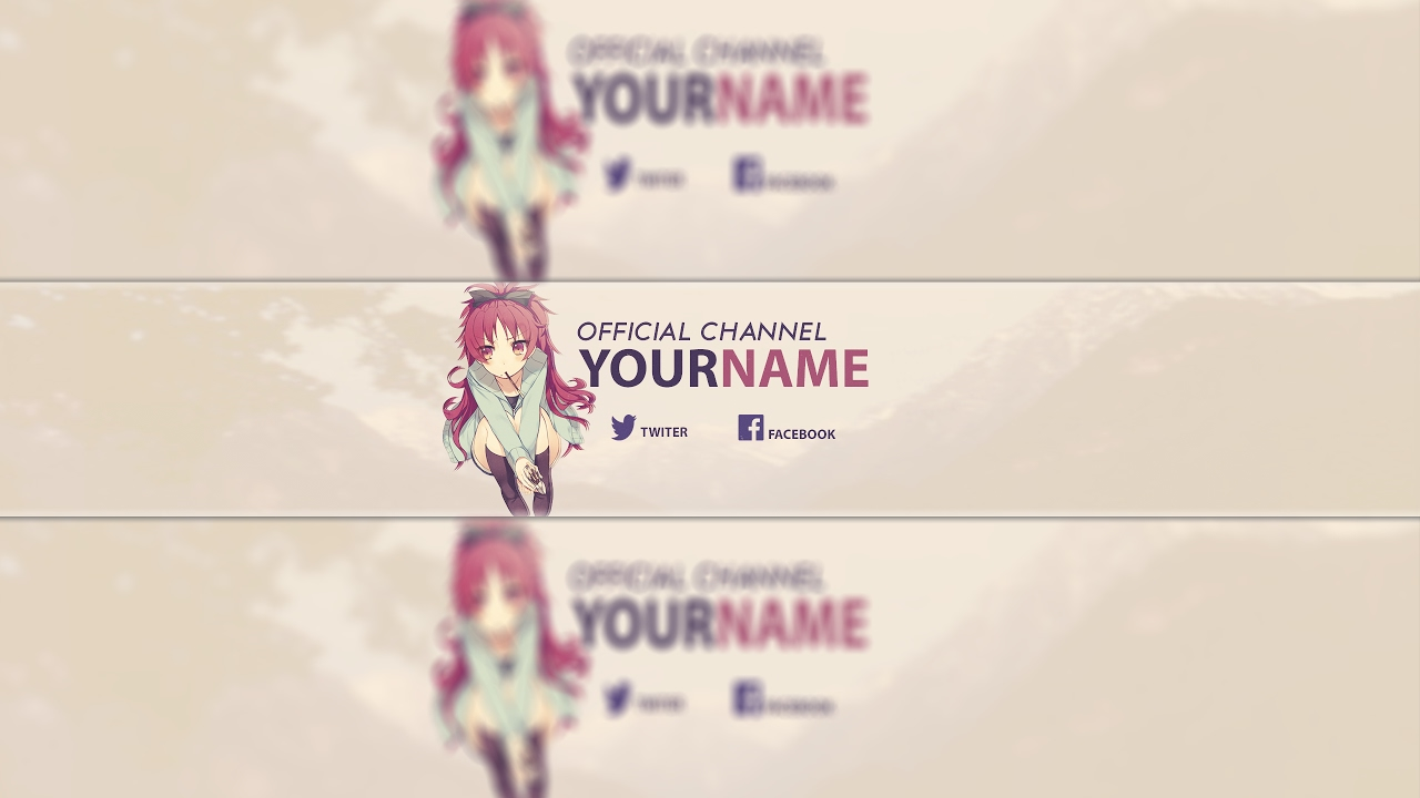 Free Anime Youtube Banner Template 30 Photoshop Tutorial Youtube