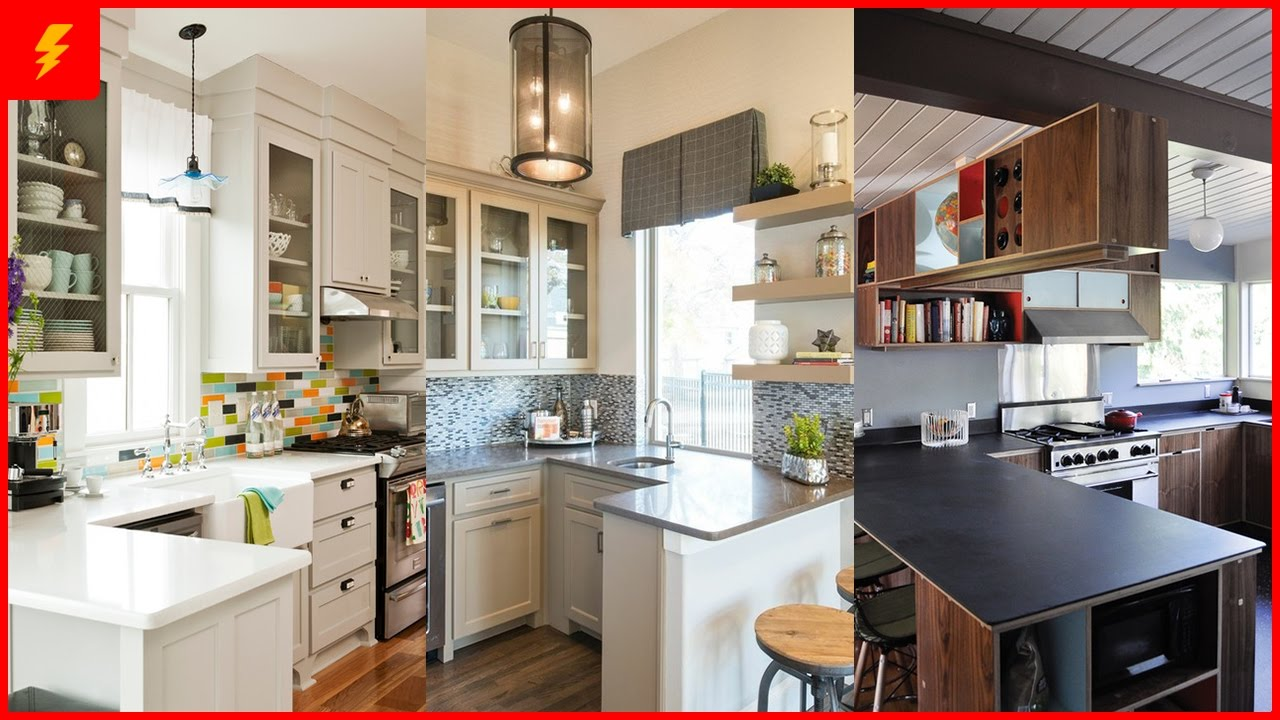 Functional Small Kitchen Peninsula Design Ideas