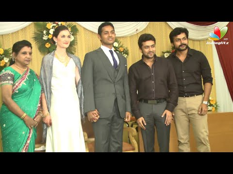 Arya, Karthi, Prabhu, Surya More Celebrities at Journalist Anupama\'s Son reception
