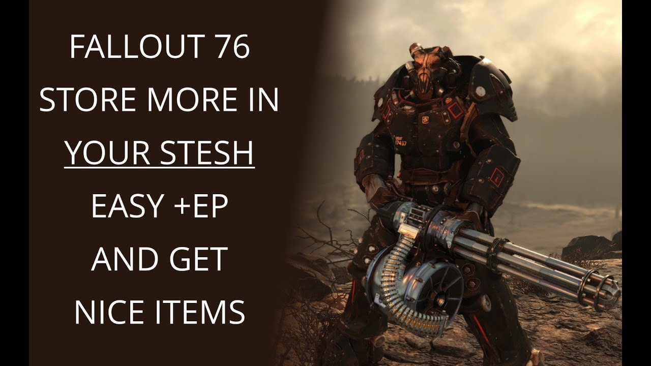 FALLOUT 76 STASH 400lbs GET MORE OUT YOUR STORAGE
