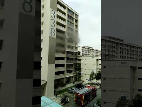 8 May 2017 Singapore has a house fire.  1130am