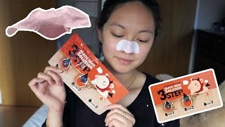 Elizavecca Milky Piggy Black Head 3 Step Solution First Impressions and Review *GIVEAWAY*