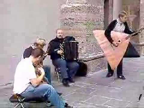 Amazing balalaika players in Salzburg, Austria
