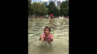 Riya in frog pond - Hi Def slow motion