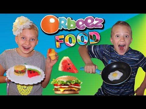 ORBEEZ FOOD!!  Orbeez Super Fine Crush Magic Chef Set Food Playtime