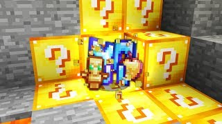 Minecraft UHC but the ores are Lucky Blocks...