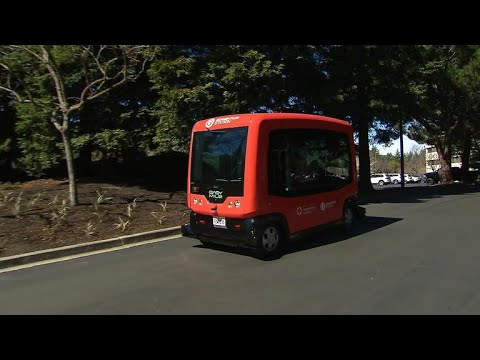 Driverless shuttle buses hit the road in California city