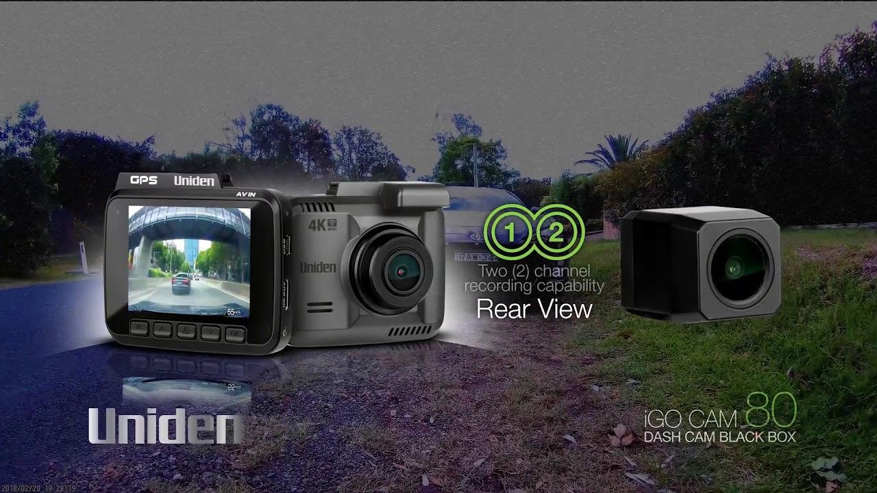 Uniden iGO CAM 80 4K Smart Dash Cam