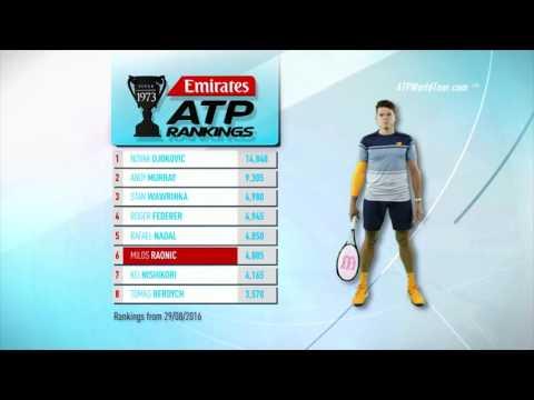 Emirates ATP Rankings 29 August 2016