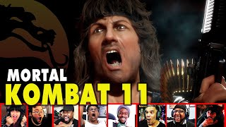 Reactors Reaction To Seeing Rambo Gameplay And Finisher In Mortal Kombat 11 | Mixed Reactions