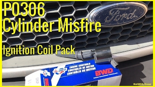 How To Diagnosis P0306 Cylinder Misfire on a Ford F-150 - changing Ignition Coil Pack