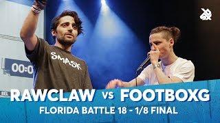 RAWCLAW vs FOOTBOXG | Florida Beatbox Battle 2018 | 1/8 Final