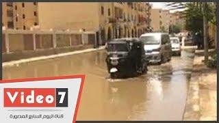 بركة مياه أمام بوابات ستاد أسوان لأكثر من 10 أيام
