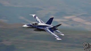 STUNNING CANADIAN CF-18 HORNET  in the Mach-Loop !!!!
