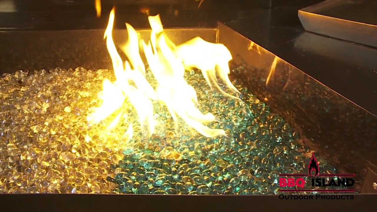 outdoor fire pits fire glass and fire rings at bbq island youtube