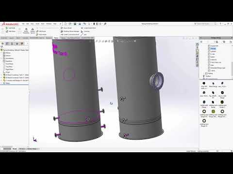 SOLIDWORKS - Modeling Pipe